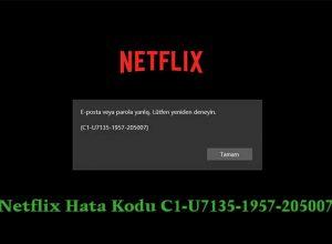 Netflix Hata Kodu C1 U7135 1957 205007